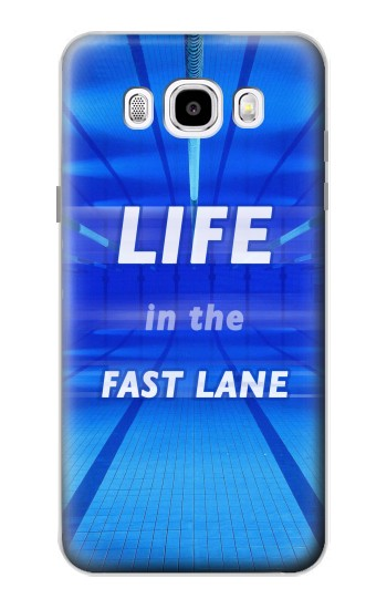 Printed Life in the Fast Lane Swimming Pool Samsung Galaxy J5 (2016) Case