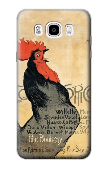 Printed Cocorico Rooster Vintage French Poster Samsung Galaxy J5 (2016) Case