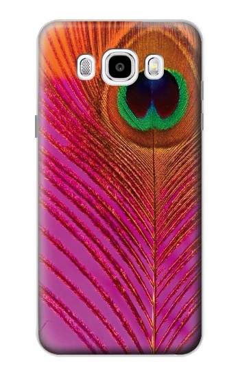Printed Pink Peacock Feather Samsung Galaxy J5 (2016) Case