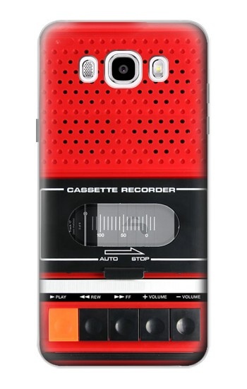 Printed Red Cassette Recorder Graphic Samsung Galaxy J5 (2016) Case