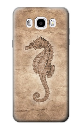 Printed Seahorse Old Paper Samsung Galaxy J5 (2016) Case