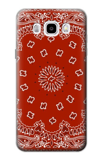 Printed Bandana Red Pattern Samsung Galaxy J5 (2016) Case