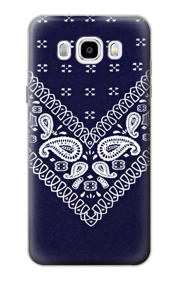 Printed Navy Blue Bandana Pattern Samsung Galaxy J5 (2016) Case