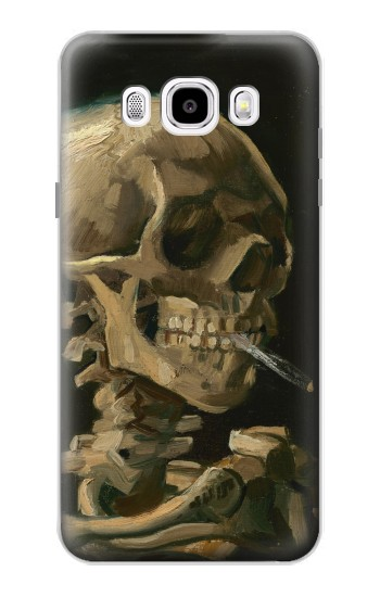 Printed Vincent Van Gogh Head Skeleton Cigarette Samsung Galaxy J5 (2016) Case
