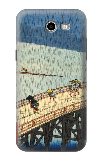 Printed Utagawa Hiroshige Sudden shower over Shin Oashi bridge and Atake Asus Zenfone 2 Laser ZE550KL Case