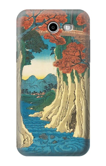 Printed Utagawa Hiroshige The Monkey Bridge in Kai Province Asus Zenfone 2 Laser ZE550KL Case