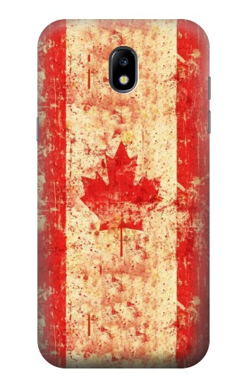 Printed Canada Flag Old Vintage Samsung Galaxy Core LTE Case
