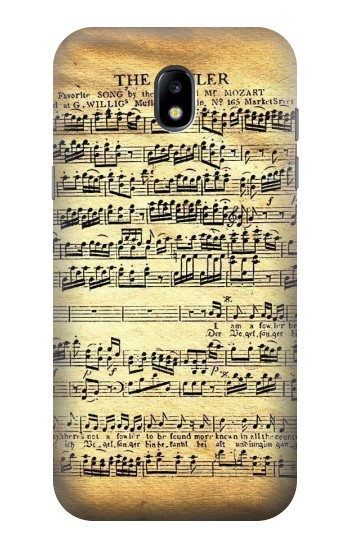 Printed The Fowler Mozart Music Sheet Samsung Galaxy Core LTE Case