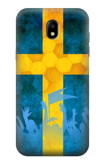 Printed Sweden Football Flag Samsung Galaxy Core LTE Case