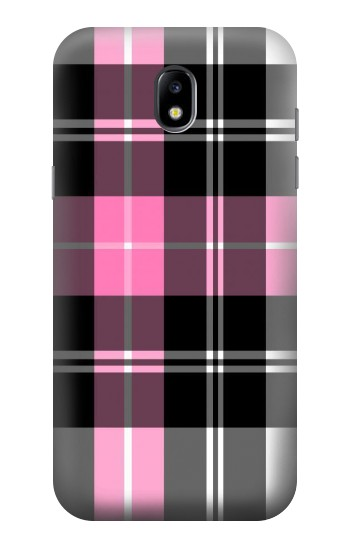 Printed Pink Plaid Pattern Samsung Galaxy Core LTE Case