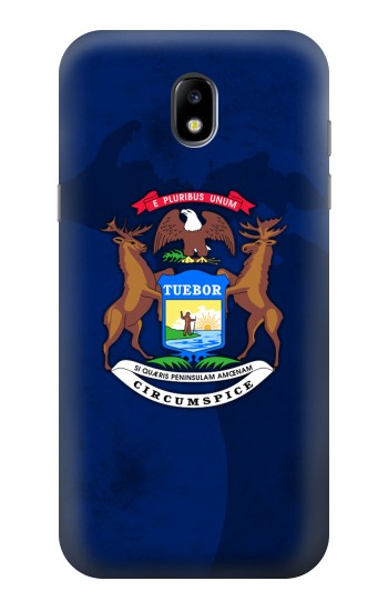 Printed State of Michigan Flag Samsung Galaxy Core LTE Case