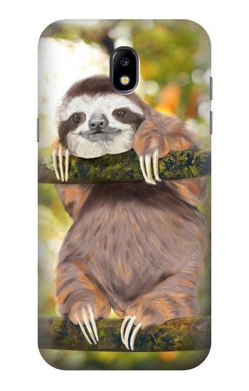 Printed Cute Baby Sloth Paint Samsung Galaxy Core LTE Case