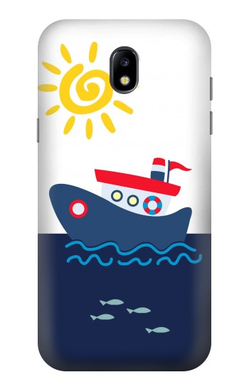 Printed Cartoon Fishing Boat Samsung Galaxy Core LTE Case