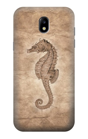 Printed Seahorse Old Paper Samsung Galaxy Core LTE Case