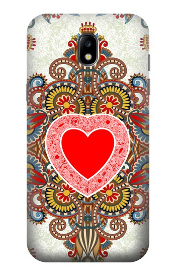 Printed Heart Pattern Line Art Samsung Galaxy Core LTE Case