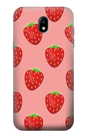 Printed Strawberry Fruit Pattern Samsung Galaxy Core LTE Case