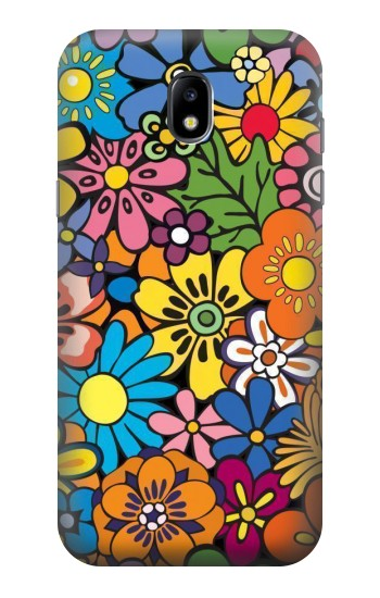 Printed Colorful Flowers Pattern Samsung Galaxy Core LTE Case