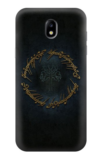 Printed Lord of The Rings Ring Elf Writing Samsung Galaxy Core LTE Case