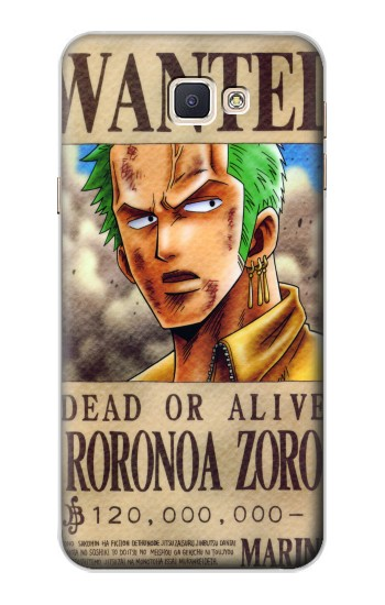 Printed One Piece Roronoa Zoro Wanted Poster Samsung Galaxy A8, A8 Duos Case