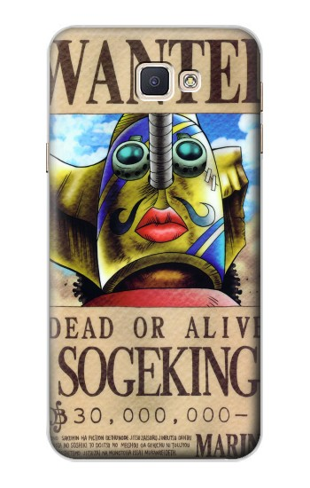 Printed One Piece SOGEKING Wanted Poster Samsung Galaxy A8, A8 Duos Case