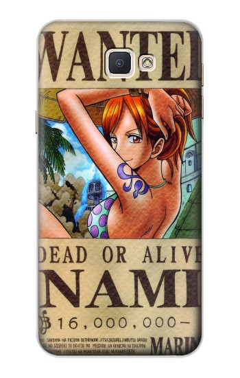 Printed One Piece NAMI Wanted Poster Samsung Galaxy A8, A8 Duos Case