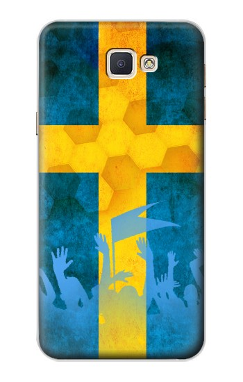 Printed Sweden Football Flag Samsung Galaxy A8, A8 Duos Case