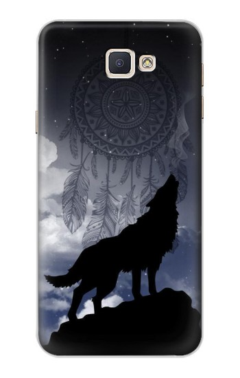 Printed Dream Catcher Wolf Howling Samsung Galaxy A8, A8 Duos Case