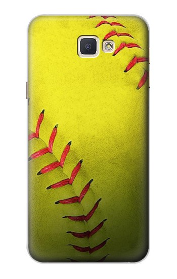 Printed Yellow Softball Ball Samsung Galaxy A8, A8 Duos Case
