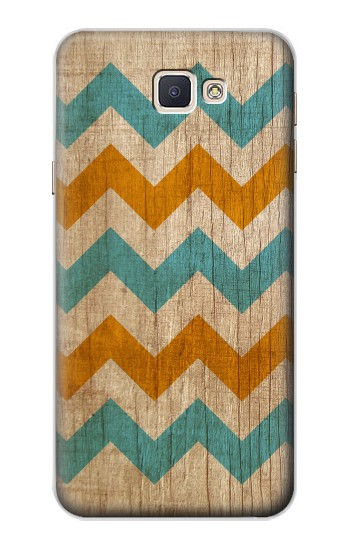 Printed Vintage Wood Chevron Samsung Galaxy A8, A8 Duos Case
