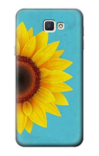 Printed Vintage Sunflower Blue Samsung Galaxy A8, A8 Duos Case