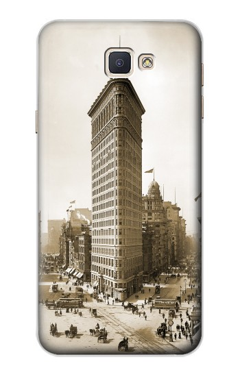 Printed Old New York Flatiron Building Samsung Galaxy A8, A8 Duos Case