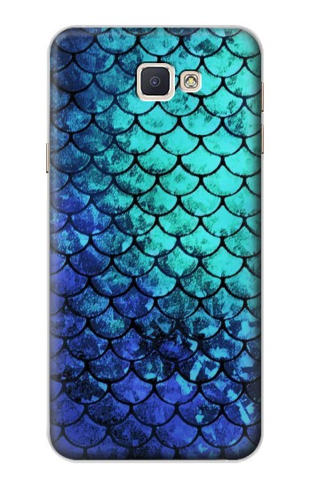 Printed Green Mermaid Fish Scale Samsung Galaxy A8, A8 Duos Case