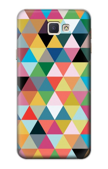 Printed Triangles Vibrant Colors Samsung Galaxy A8, A8 Duos Case