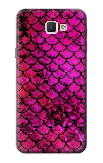 Printed Pink Mermaid Fish Scale Samsung Galaxy A8, A8 Duos Case