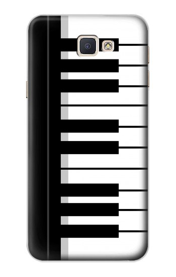 Printed Black and White Piano Keyboard Samsung Galaxy A8, A8 Duos Case