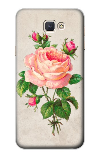 Printed Vintage Pink Rose Samsung Galaxy A8, A8 Duos Case