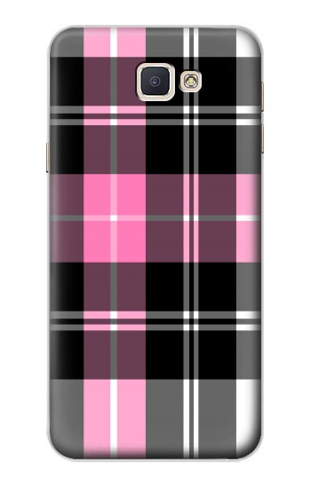 Printed Pink Plaid Pattern Samsung Galaxy A8, A8 Duos Case
