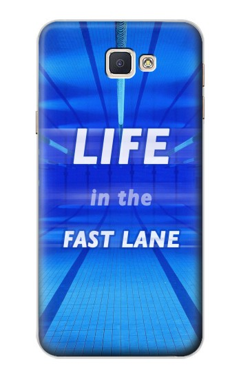 Printed Life in the Fast Lane Swimming Pool Samsung Galaxy A8, A8 Duos Case