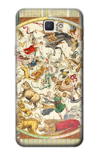 Printed Antique Constellation Map Samsung Galaxy A8, A8 Duos Case