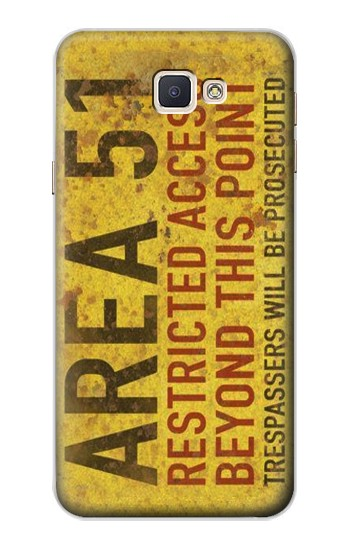 Printed Area 51 Restricted Access Warning Sign Samsung Galaxy A8, A8 Duos Case