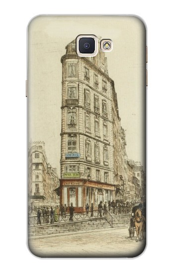 Printed Boulevards of Paris Samsung Galaxy A8, A8 Duos Case