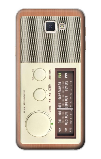 Printed FM AM Wooden Receiver Graphic Samsung Galaxy A8, A8 Duos Case