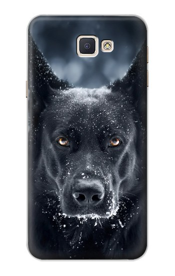 Printed German Shepherd Black Dog Samsung Galaxy A8, A8 Duos Case