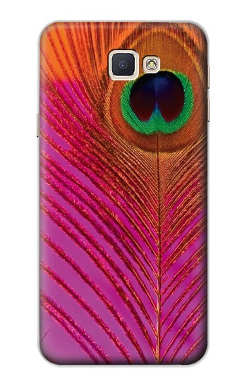 Printed Pink Peacock Feather Samsung Galaxy A8, A8 Duos Case