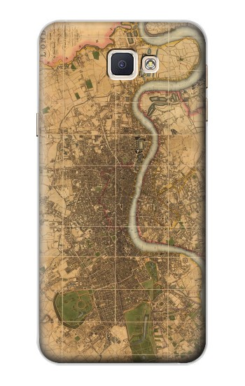 Printed Vintage Map of London Samsung Galaxy A8, A8 Duos Case