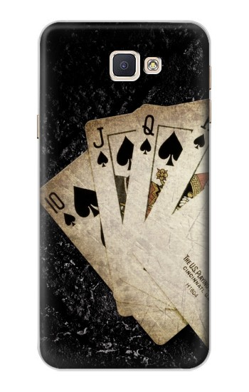 Printed Vintage Royal Straight Flush Cards Samsung Galaxy A8, A8 Duos Case