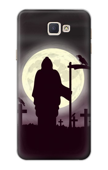 Printed Night Moon Cemetery Samsung Galaxy A8, A8 Duos Case