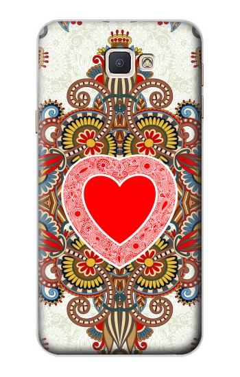 Printed Heart Pattern Line Art Samsung Galaxy A8, A8 Duos Case