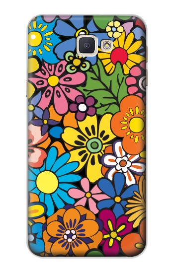 Printed Colorful Flowers Pattern Samsung Galaxy A8, A8 Duos Case