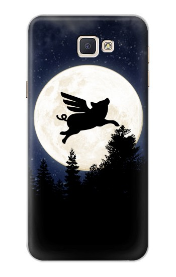 Printed Flying Pig Full Moon Night Samsung Galaxy A8, A8 Duos Case